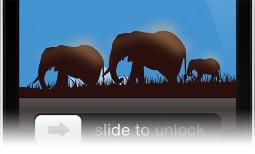 Memory Management in iOS as represented by elephants in as an iPhone background